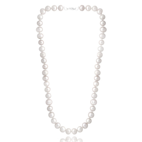 Coloured Freshwater Pearl Necklace - White