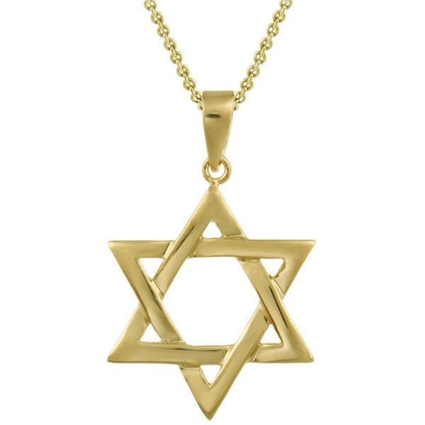 Star of David Necklace - 18k Gold Over Sterling Silver