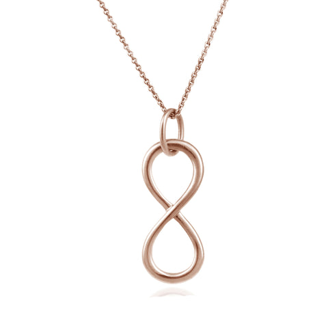 Infinity 18 Inch Rolo Chained Necklace - Rose Gold / Silver