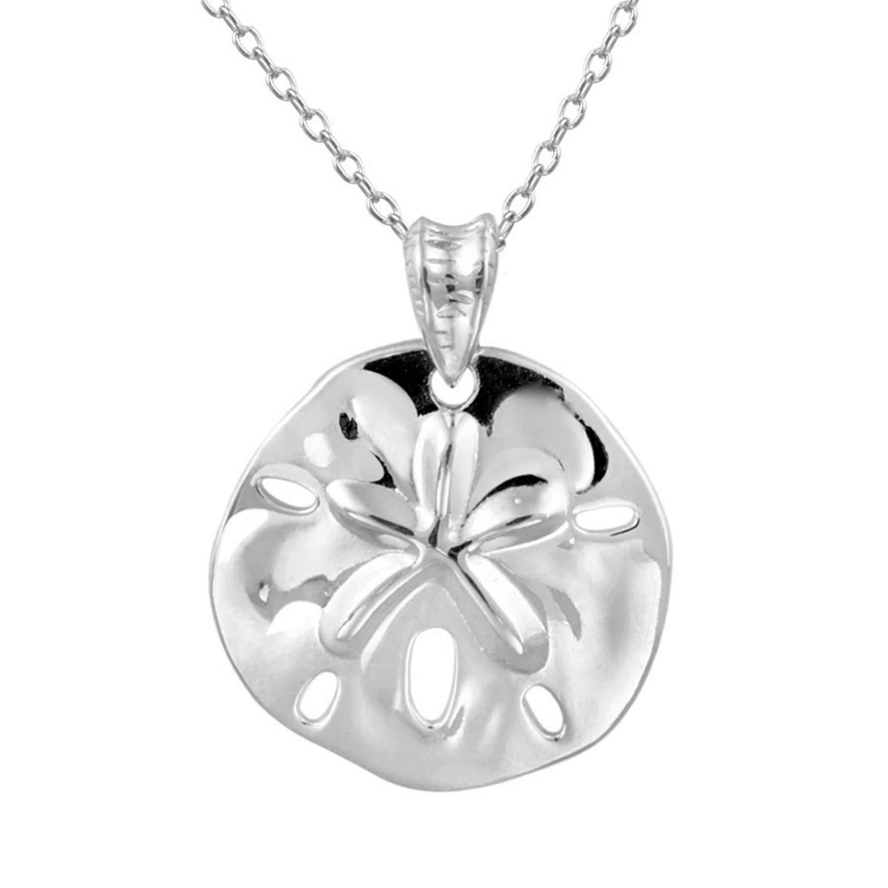 Sterling Silver Sand & Dollar Necklace - Sterling Silver