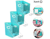 3 pc Closet Caddy Clothes Storage Box