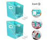 2 pc Closet Caddy Clothes Storage Box