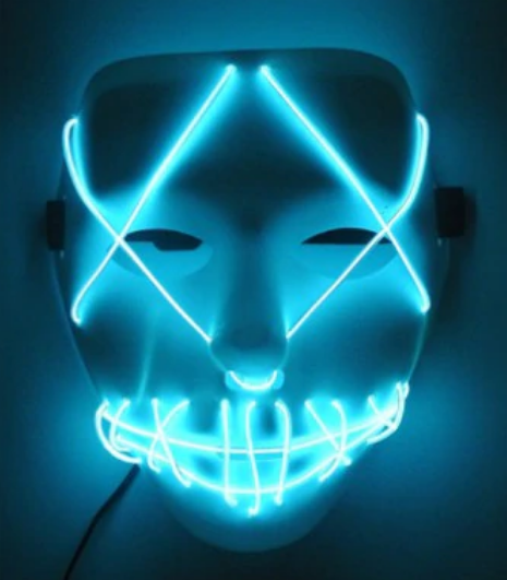 Halloween Mask Neon Light Glow In The Dark Horror Masks