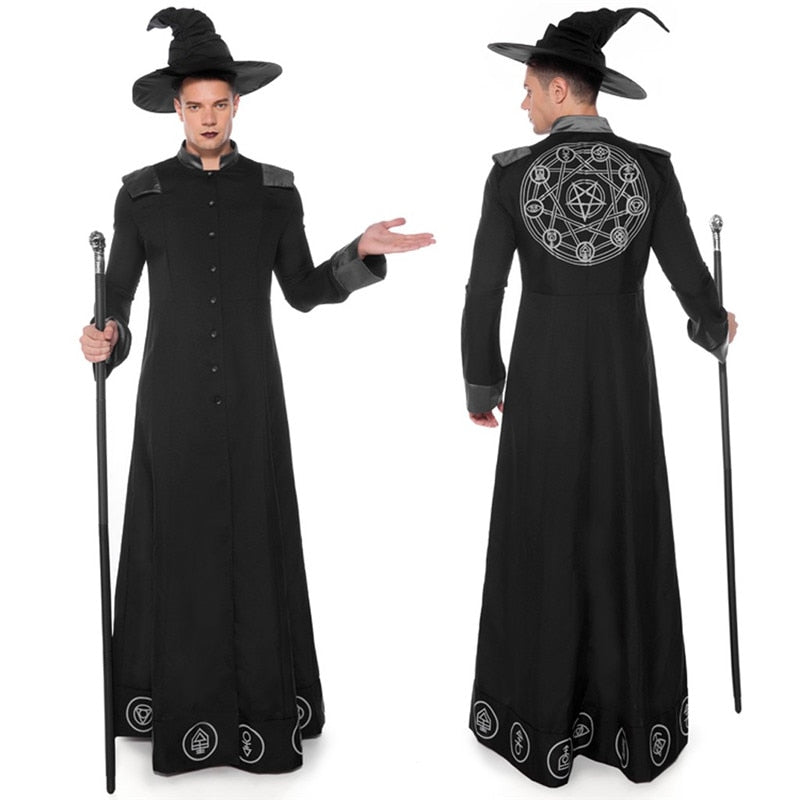 Halloween Costumes Gothic Wizard Costume