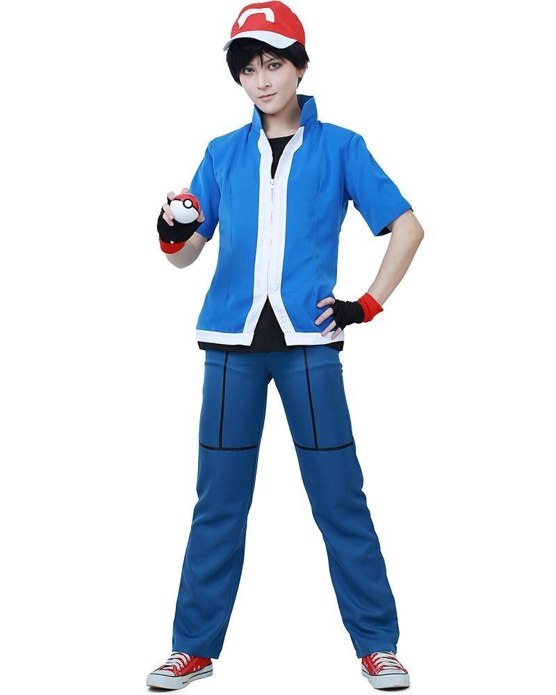 Ash Ketchum Cosplay Costume for Kids Halloween Outfit