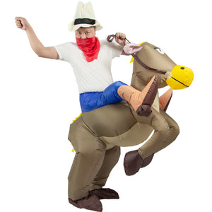 Inflatable Horse Cowboy Halloween Costumes