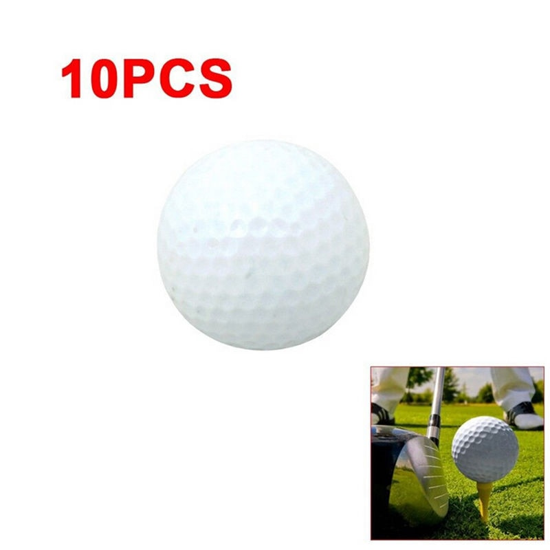 10 Pack Sports White PU Foam Golf Ball Training Aids FREE With The Purchase of The Pro Indoor Putting Green with Ball Return, 9 feet x 16.25