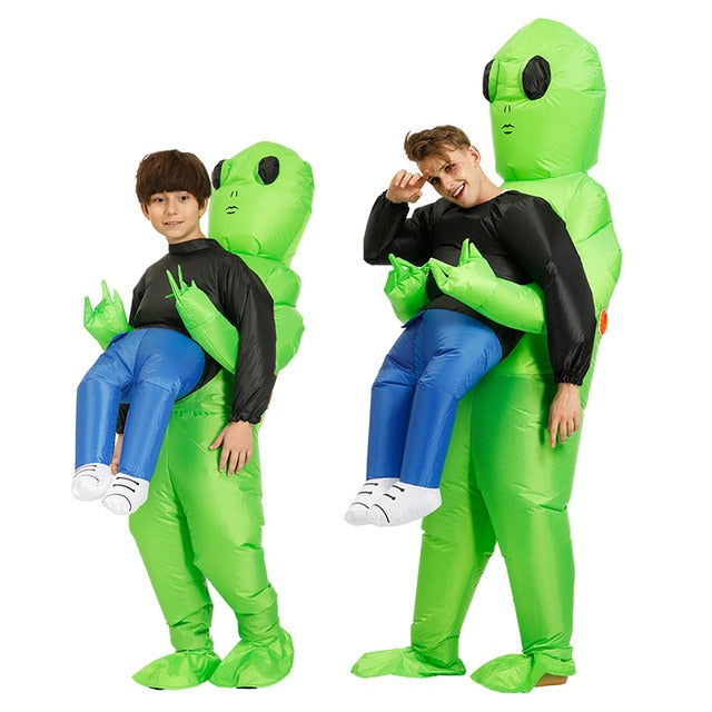 Green Alien Inflatable Costumes