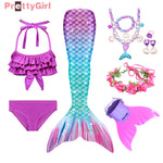 Mermaid Tail Swimsuit Bikini Mermaid Costume Halloween Party Girls Dress