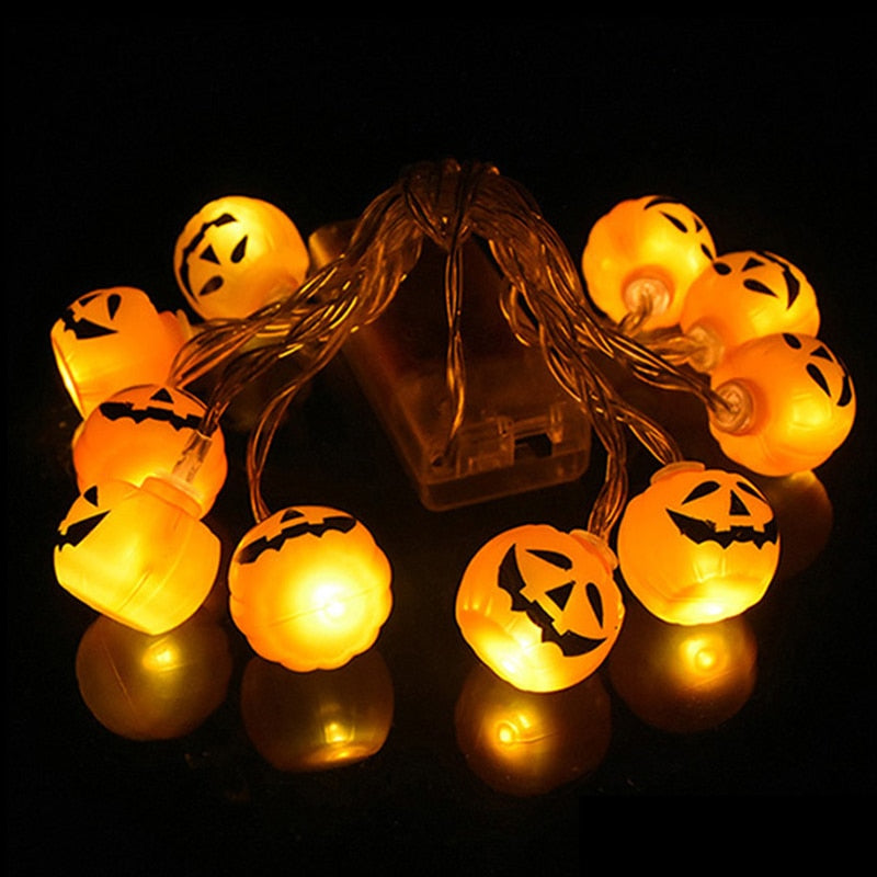 10 LED String Lights Halloween Pumpkins