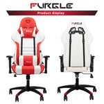 Furgle WCG Lift Computer Gaming Swivel Chair with Leather Cushion for Office or Gamer