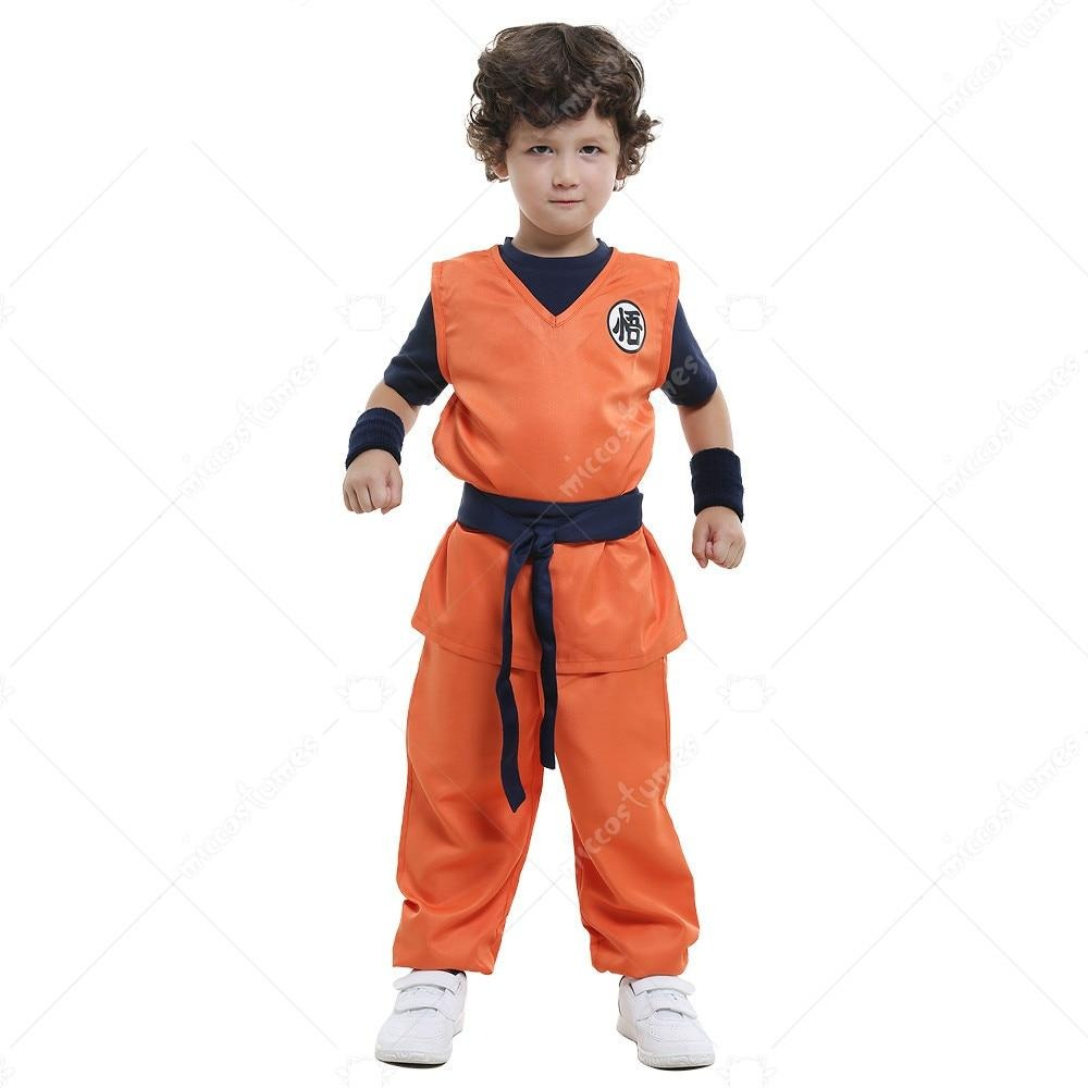 Son Goku Cosplay Halloween Costumes for Kids Party Clothing Costume