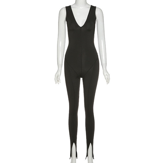 Sexy V-Neck Sleeveless Women Jumpsuits