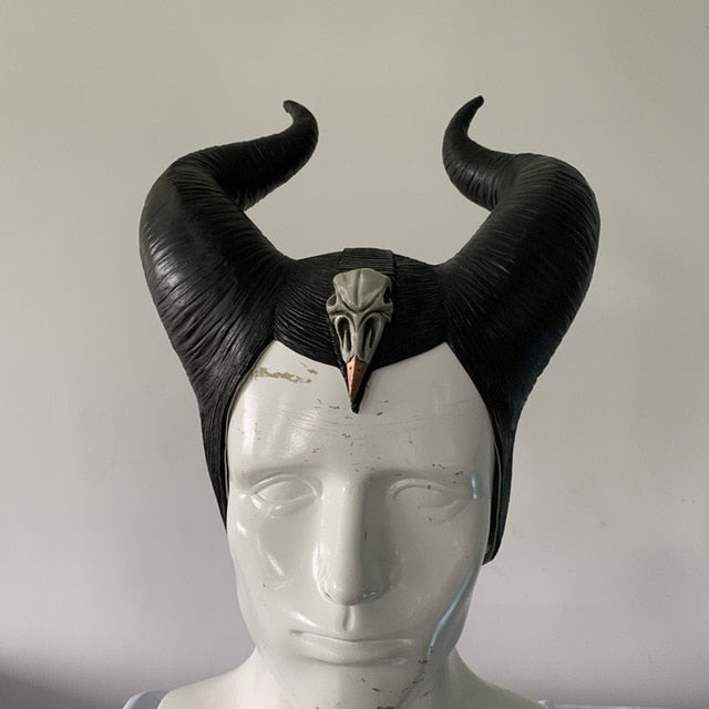 Maleficent Witch Horns Headgear Black Queen