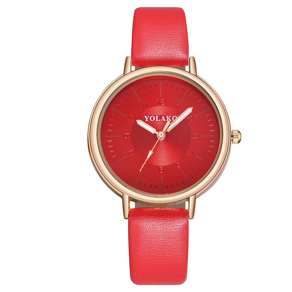 Women Luxury Casual Quartz Leather Band New Strap Watch
