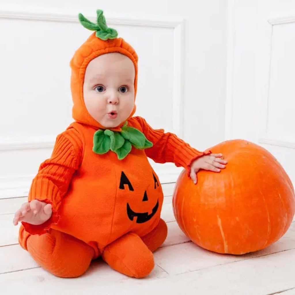 Baby Halloween Costume Pumpkin Cosplay  Romper For Baby
