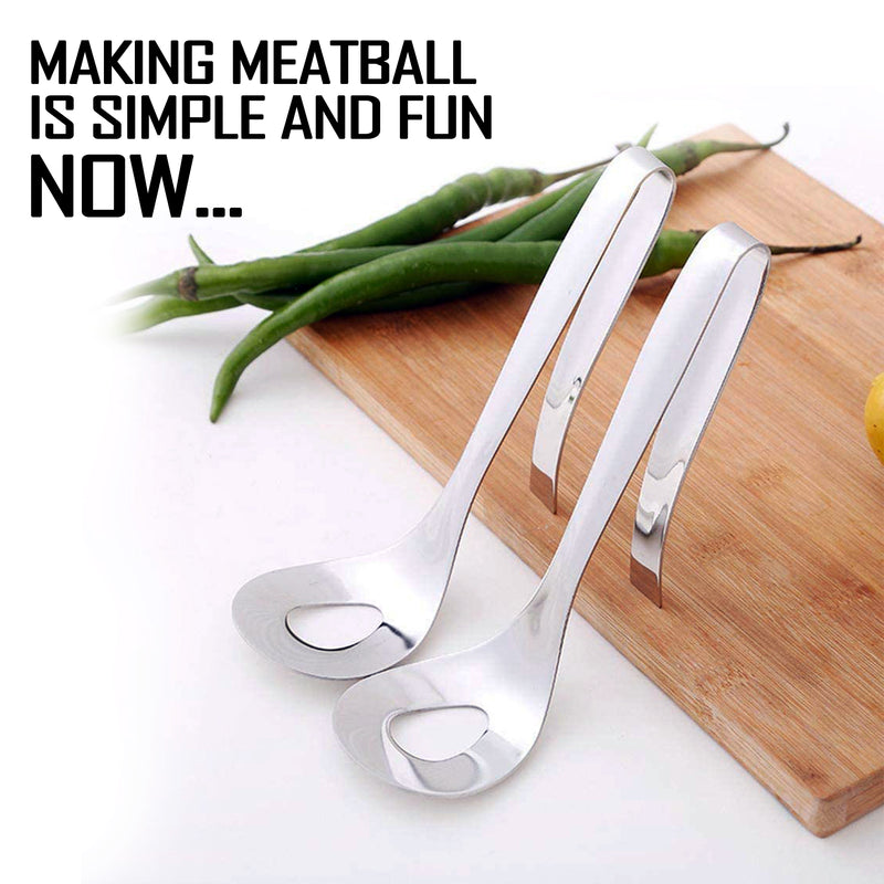 Non-Stick Stainless steel meatball maker spoon