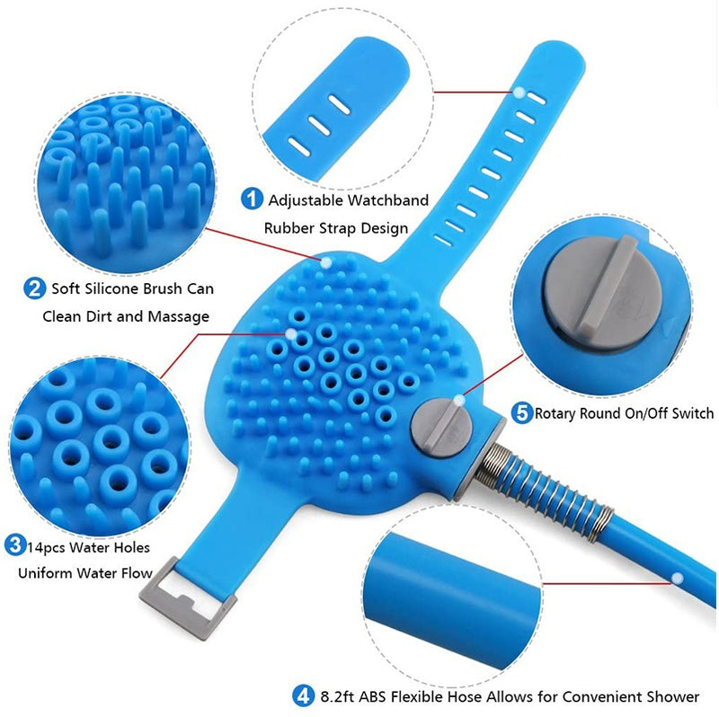 PalmPooch Dog Wash Water Sprayer Scrubber Glove