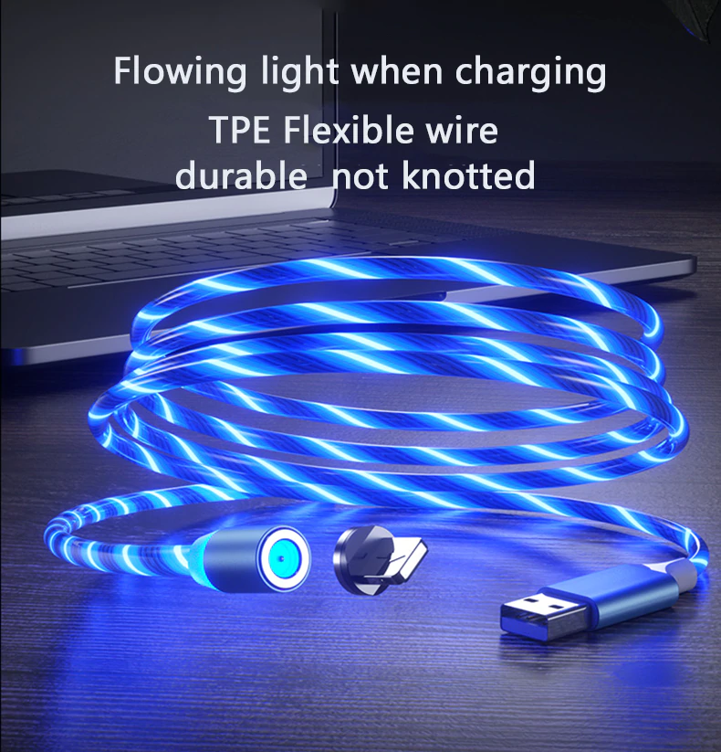 Magnetic LED charging Cable for iPhone/Android