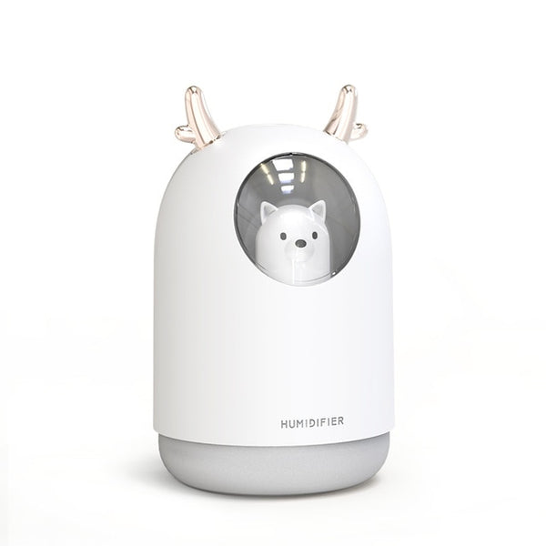 300ml Cute Pet Ultrasonic Cool Mist Aroma Air Oil Diffuser