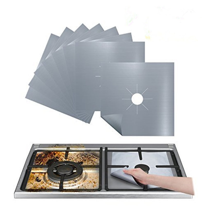 1/4PC Gas Stove Protector Mat Cooker Cover