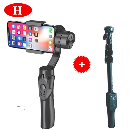 3-Axis Handheld Stabilizer Gimbal Smartphone Camera w/Focus Pull & Zoom