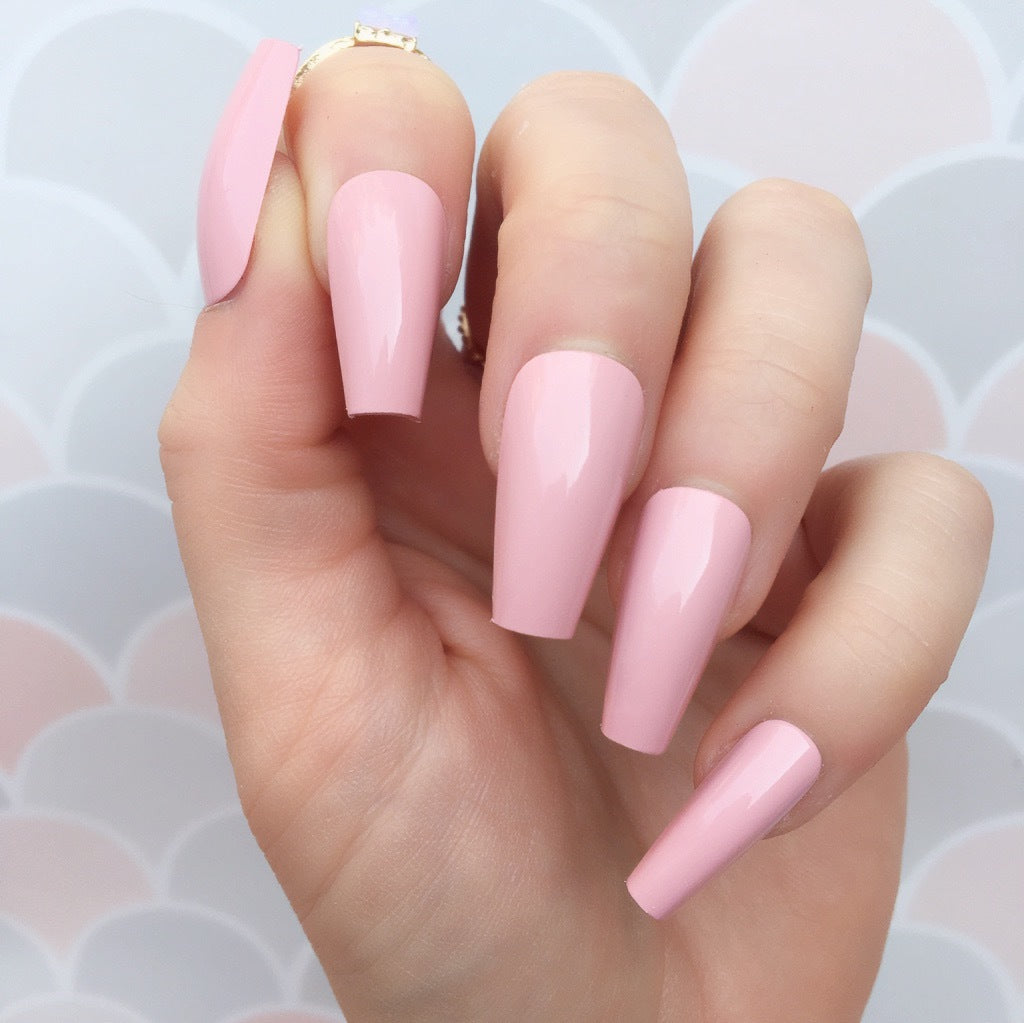 """Simple collection"" Pink Medium Ballerina ""Ready to Ship"" - TheNailsClub"