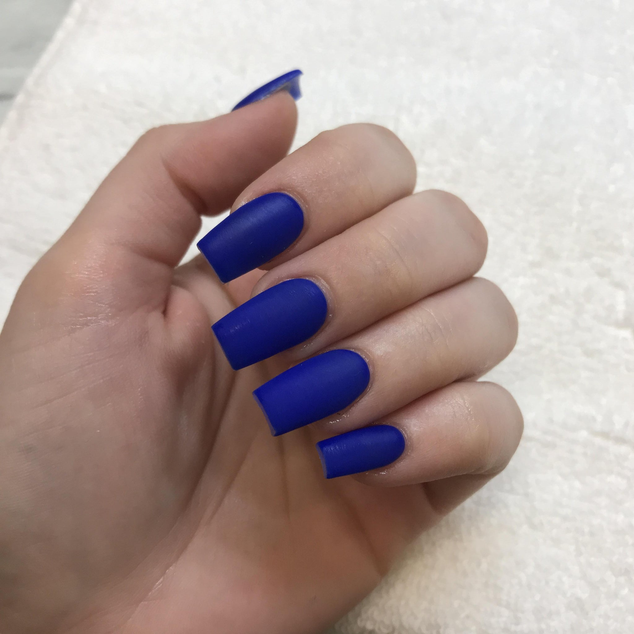 """Simple collection"" Royal Blue Matte Square ""Ready to Ship"" - TheNailsClub"
