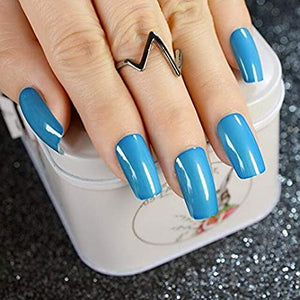 """Simple collection"" Blue Square ""Ready to Ship"" - TheNailsClub"