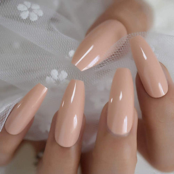 "Sexy Nude long coffin ""Ready to Ship"" - TheNailsClub"