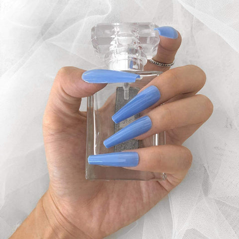 "Baby Blue Long Ballerina ""Ready to Ship"" - TheNailsClub"