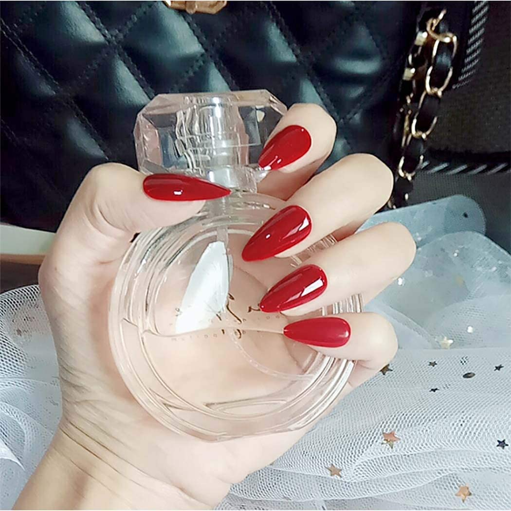 "Berrylicious Medium Stiletto ""Ready to Ship"" - TheNailsClub"