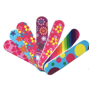 Mini Colourful Nail File 10pcs - TheNailsClub