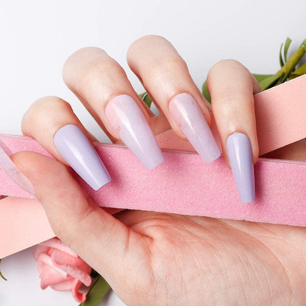 "Ombre Lilac Gradient Medium Ballerina ""Ready to Ship"" - TheNailsClub"