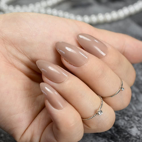 """Simple collection"" Nude Almond ""Ready to Ship"" - TheNailsClub"