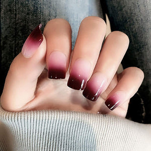 Christmas Ombre Short Square - TheNailsClub