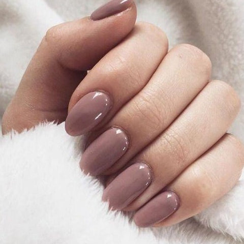 "Mulled Wine Short Oval ""Ready to Ship"" - TheNailsClub"