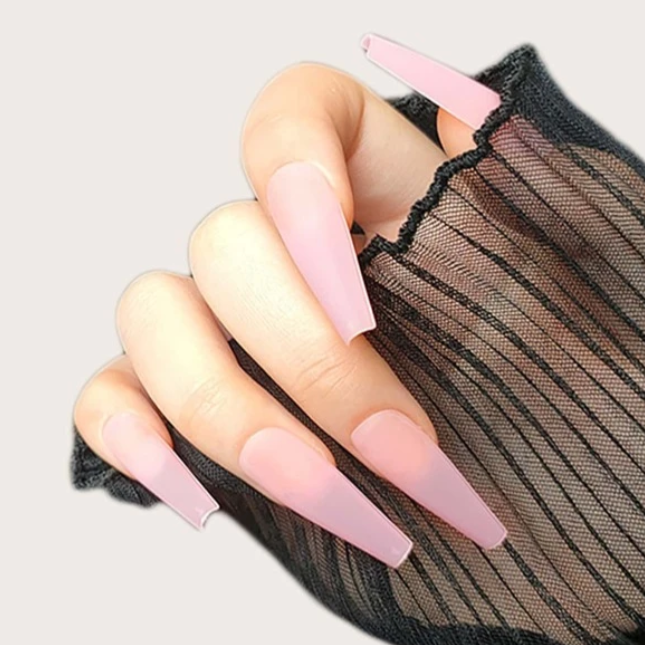 """Simple collection"" Matte Light Pink Ballerina ""Ready to Ship"" - TheNailsClub"