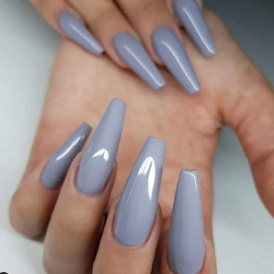 """Happy Grey"" Long Ballerina - TheNailsClub"