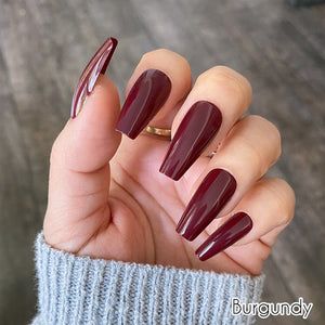 "Burgundy Medium Ballerina ""Ready to Ship"" - TheNailsClub"