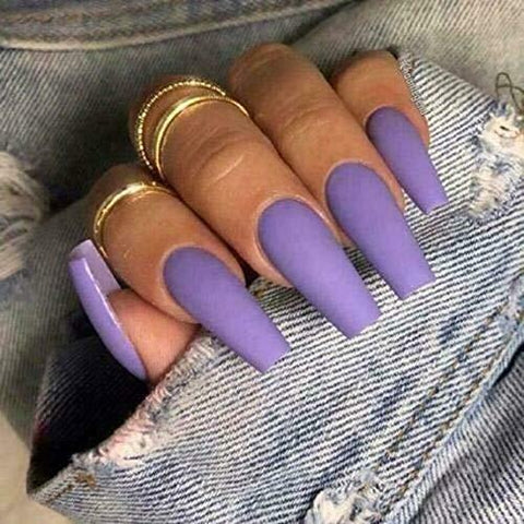 *Ready To Ship* Long Lavender Ballerina - TheNailsClub