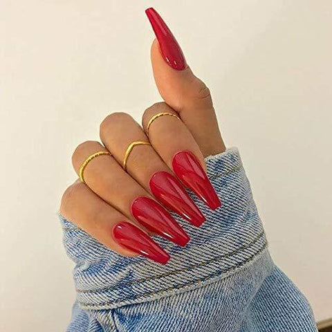 *Ready To Ship* Red Long Ballerina - TheNailsClub