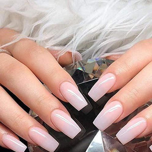 Milky white Medium square - TheNailsClub