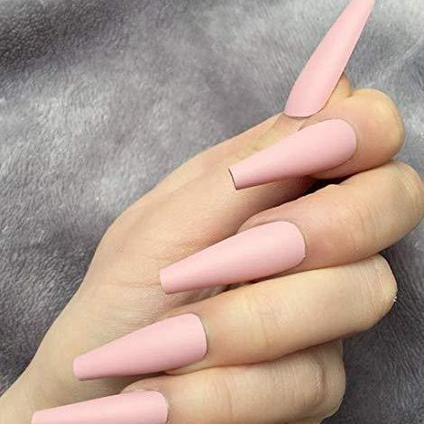 "Pink matte Long Ballerina ""Ready to Ship"" - TheNailsClub"