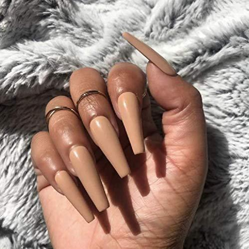 """Simple collection"" chocolate matte Ballerina ""Ready to Ship"" - TheNailsClub"