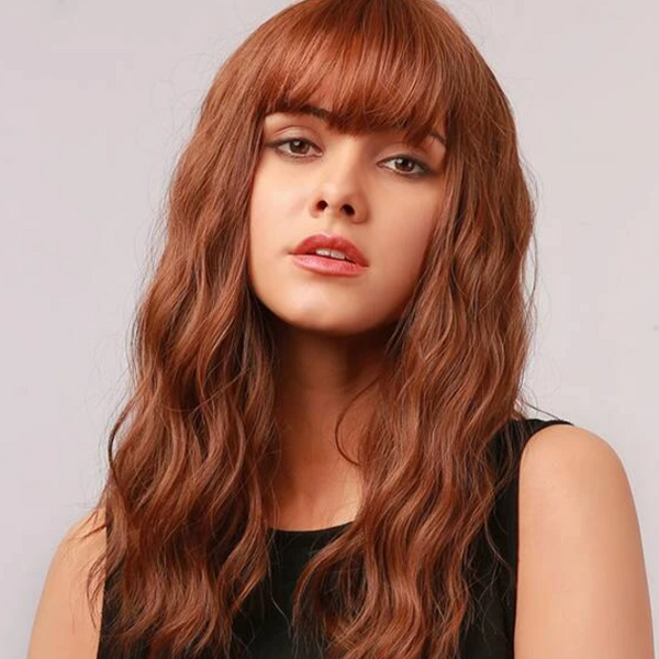 Natural Wavy Red Wild Wig - TheNailsClub