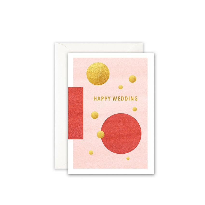 Grußkarte · HAPPY WEDDING - GOLDFOIL Grußkarte Leo la Douce