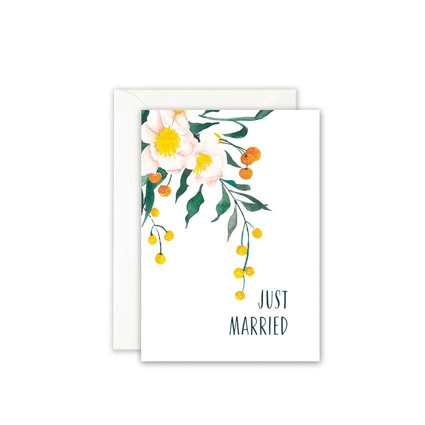 Grußkarte · JUST MARRIED FLOWERS Grußkarte Leo la Douce
