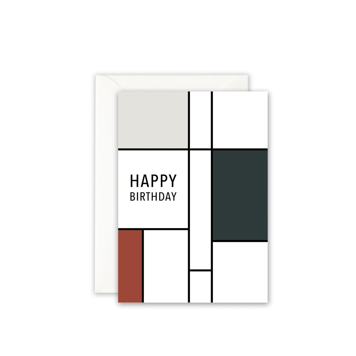 Grußkarte · HAPPY BIRTHDAY (GREY SQUARE) Grußkarte Leo la Douce