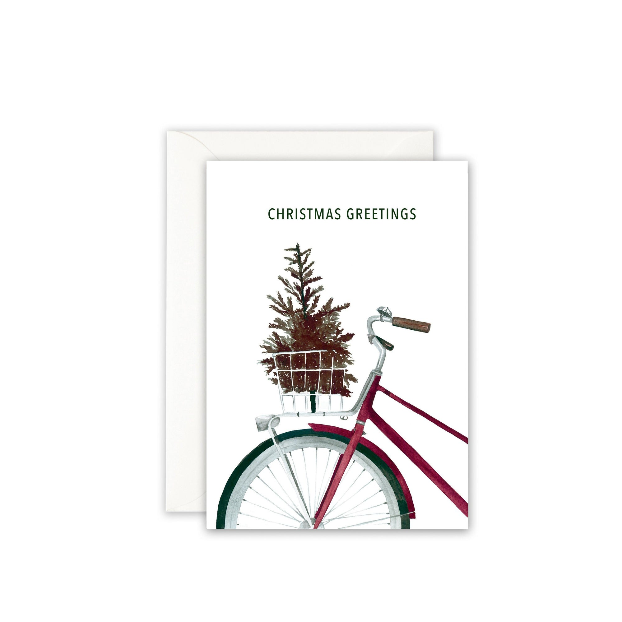 Grußkarte · CHRISTMAS BICYCLE Grußkarte Leo la Douce